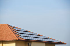 Roof top solar cell. Stock Photography