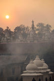 Roof top of stupa in Pashupatinath Stock Photo