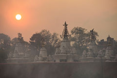 Roof top of stupa in Pashupatinath Temple Stock Photography
