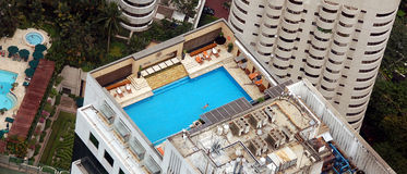 Roof top swimming pool Royalty Free Stock Image