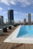 Roof top swimming pool Royalty Free Stock Photo