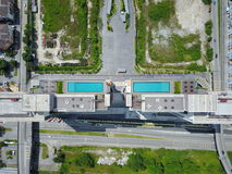 Roof top swimming pools Royalty Free Stock Images