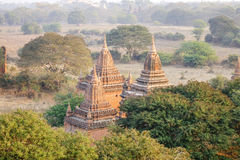 Roof-top of the temple in Bagan, Myanmar Royalty Free Stock Images