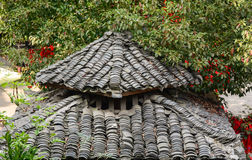 Roof top of the temple in northern Vietnam Stock Image