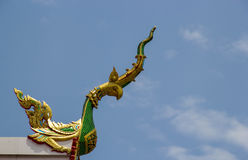 A Roof Top of A Thai Style Temple Royalty Free Stock Images