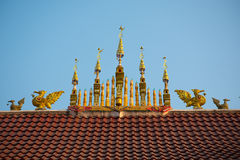 Roof top of Thai temple Stock Image