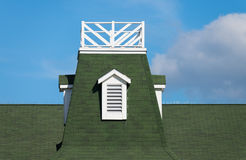 Roof-top tower. On a green roof Stock Images