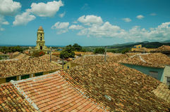 Roof top view over colonial houses in Trinidad,Cuba Stock Photo