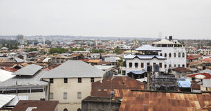 Roof top view of Stone Town Royalty Free Stock Images