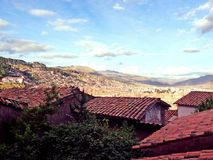 Roof top views. Beautiful roof top views of the City of Cuzco, Peru Royalty Free Stock Photos