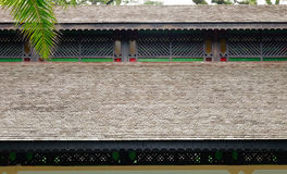 Roof top of wooden house at Chinatown in Singapore Royalty Free Stock Photography