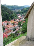 Roof tops. A view of red roof tops. View from the castle Karlstein, near Prague, Czech Republic Stock Photo