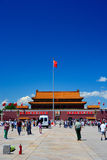 Roof tops and bowl in forbidden city in Beijing Royalty Free Stock Photo