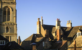 Roof tops and church, Stamford, Lincolnshire Royalty Free Stock Photo
