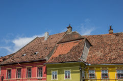 Roof tops of the citadel of Sighisoara Royalty Free Stock Photography