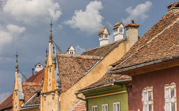 Roof tops of the citadel of Sighisoara Stock Photography