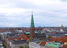 Roof tops of Copenhagen, Denmark. Royalty Free Stock Image