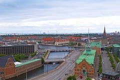 Roof tops of Copenhagen, Denmark. Royalty Free Stock Images