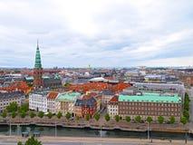 Roof tops of Copenhagen, Denmark Royalty Free Stock Images