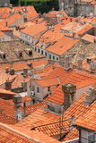 Roof tops of Dubrovnik old city Royalty Free Stock Image