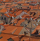 Roof tops in Dubrovnik Royalty Free Stock Photography