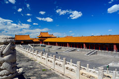 Roof tops in forbidden city in Beijing Royalty Free Stock Images