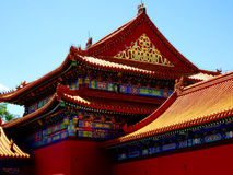 Roof tops in forbidden city in Beijing Royalty Free Stock Photos