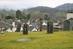 Roof tops form graveyard. Royalty Free Stock Photography