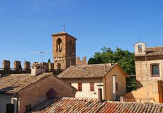 Roof Tops of Gradara Stock Image