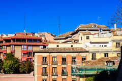 Roof tops in the historical cenatre of Madrid Stock Photos