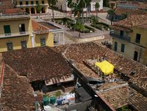 Roof Tops III. Roof tops taken in a small town in Cuba Royalty Free Stock Photography