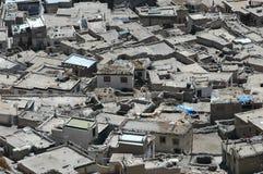 Roof tops in Leh. Mud roof tops in urban slum, Leh, Northern India Royalty Free Stock Image