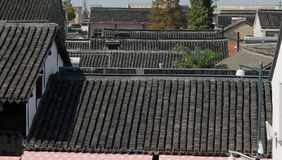 Roof Tops. Looking out over the Roof Tops of Zhujiajiao, China Stock Photography
