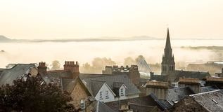 Roof tops in the morning in Stirling, Scotland. UK Stock Image