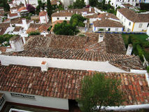 Roof tops of Obidush. Portugal. Royalty Free Stock Image