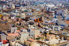 Roof tops of Valencia Stock Images