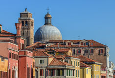 Roof tops of Venice buildings Stock Photo