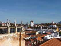 Roof tops. View of the tiled roof tops of the colonial city of Sucre, Bolivia Royalty Free Stock Photography