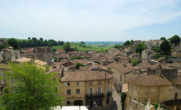 Roof-tops at world-famous St Emilion, France Stock Photos