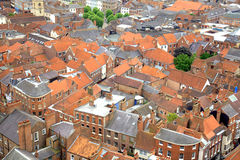 Roof tops in York, UK. Red rooftops of an historic City of York Stock Photos