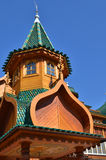 Roof of tower in wooden palace of tzar in Moscow. Roof of tower in wooden palace of tzar in Kolomenskoe, Moscow, Russia Royalty Free Stock Image