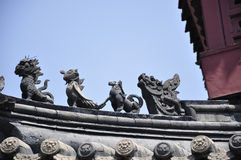 Roof of tradional chinese architecture Stock Photos