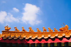 Roof Traditional and architecture Chinese style temple Stock Image