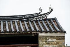 Roof of traditional China style building royalty free stock photos