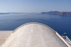Roof of traditional Cycladic house in Oia Royalty Free Stock Photo