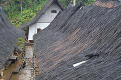 The Roof of Traditional house of Kampung Naga Royalty Free Stock Photography