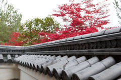 Roof of traditionally japanese style Royalty Free Stock Photos