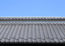 Roof of traditionally japanese Stock Images