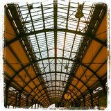 Roof trainstation historic. Al old Stock Images
