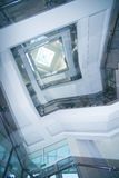 Roof transparent in office building Stock Image